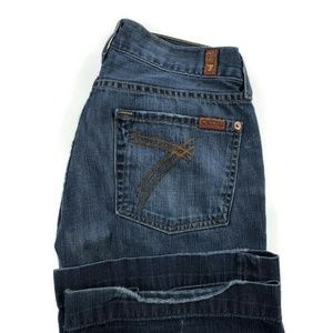 7 For All Mankind Dojo Flare Blue Jeans